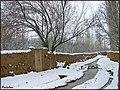 Snow and Riverكلاته خيج ، شاهرود ، كوچه باغ - panoramio.jpg