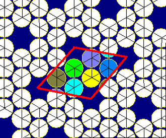 Snub trihexagonal tiling - Image: Snub hexagonal tiling circle packing