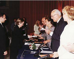 Carles & Sofia Piano Duo - Carles and Sofia receiving a UNICEF award from Margarita de Borbón