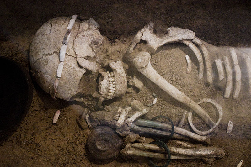 File:Sofia - Skeleton from the Durankulak Necropolis.jpg