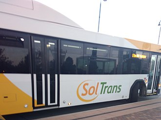SolTrans - SolTrans Route 1 at the Vallejo Transit Center.