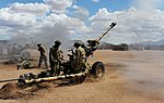 Soldier from 4 RIFLES Fire 105mm Artillery on Exercise in Kenya MOD 45152934.jpg