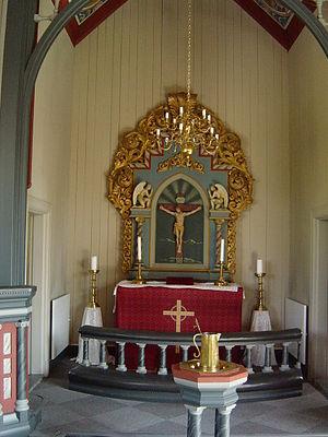 Sollihøgda - Sollihøgda Chapel altar