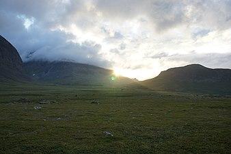 Solnedgång syd-öst om Åhpar-massivet.jpg