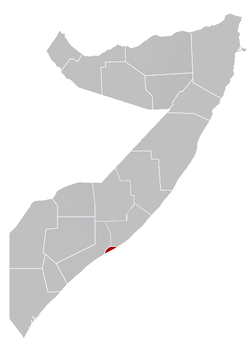 Location in Somalie.
