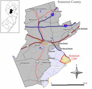 Somerset, New Jersey - Image: Somerset cdp nj 035