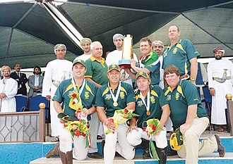 International Tent Pegging Federation - Image: South African team with World cup trophy 2014