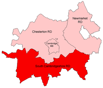 South Cambridgeshire Rural District - Position within Cambridgeshire