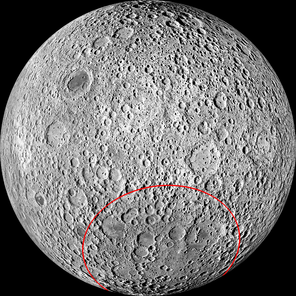 South Pole–Aitken basin on the Moon's farside.png