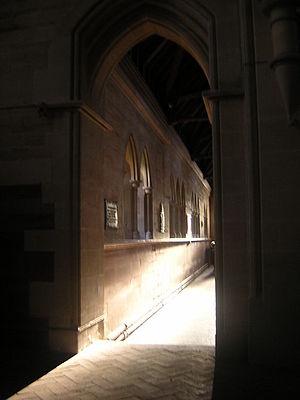 Holy Trinity Church, Privett - Image: South aisle of Holy Trinity, Privett, from the chancel