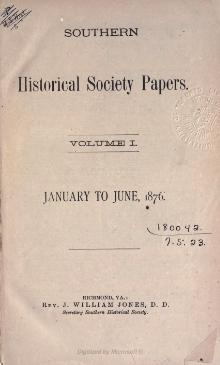 Southern Historical Society Papers volume 01.djvu