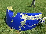 Southwest Airlines Flight 1380 piece of the engine cowling 2 PHL KPHL.jpg
