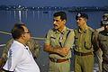 Sovan Chatterjee and Surajit Kar Purkayastha Discussing Idol Immersion Facilities in River Hooghly - Baja Kadamtala Ghat - Kolkata 2015-10-22 6676.JPG