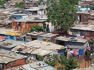 Shanty town - Shanty town in Soweto, South Africa, 2005