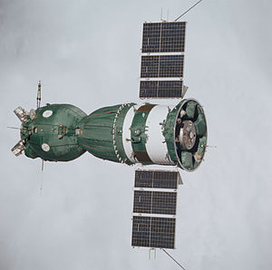 Soyuz programme - Image: Soyuz 19 (Apollo Soyuz Test Project) spacecraft