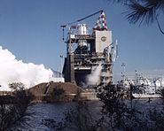 Space Shuttle Main Engine test on A-1 in Stennis Space Center