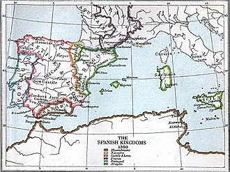 Spain in the Middle Ages - The Spanish kingdoms in 1360