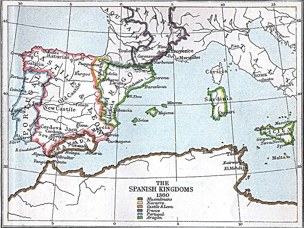 Spanish kingdoms 1360