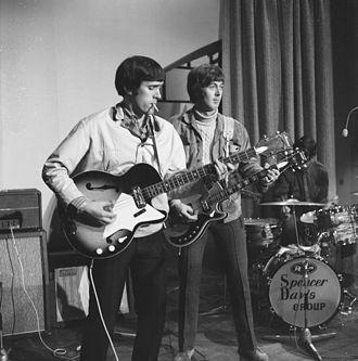 Spencer Davis - Spencer Davis (guitar) rehearsing in Amsterdam (1966); Muff Winwood on bass