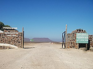 C39 road (Namibia) - The road at Springbok Gate