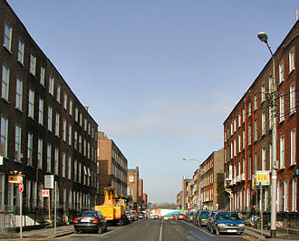 Architecture of Limerick - Georgian Period Townhouses on Mallow Street in the city centre