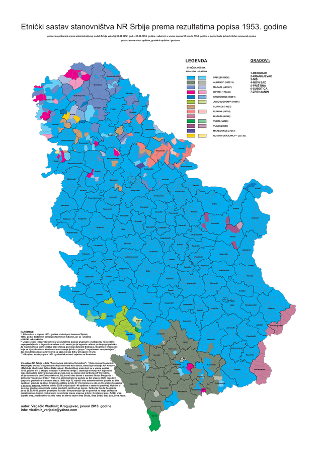 demografska karta srbije Demografija Srbije   Wikiwand demografska karta srbije