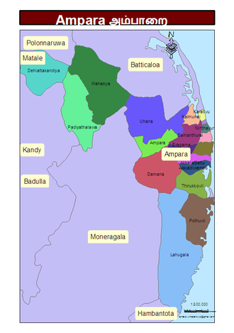 Ampara District - Administrative units of Ampara District in 2006