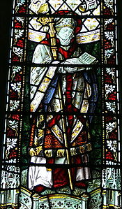 St.David's Cathedral - Thomas Becket-Kapelle 2 Fenster St.Asaph.jpg