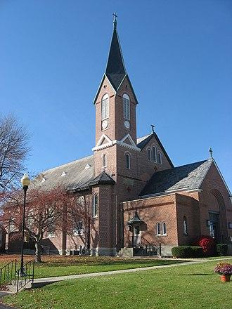 Russia, Ohio - St. Remy Catholic Church, a community landmark