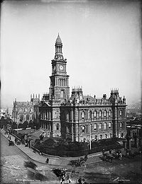 St Andrew's Cathedral, Town Hall, Sydney from The Powerhouse Museum Collection.jpg