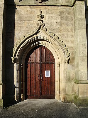 Syro-Malabar Cathedral of St. Alphonsa, Preston - Image: St Ignatius' Roman Catholic Church, Preston, Doorway geograph.org.uk 614951