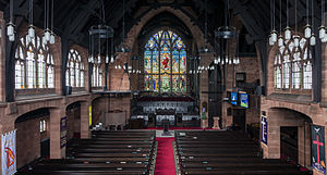 St Matthew's Church, Paisley - The interior viewed from the rear gallery