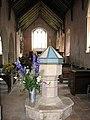 St Peter's church - baptismal font - geograph.org.uk - 1544177.jpg