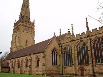 English Gothic architecture - The Church of St Peter and St Paul in Coleshill, Warwickshire is an example of what Decorated Gothic Churches look like in England