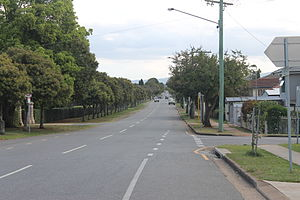Nudgee, Queensland - St Vincents Road, outside Nudgee Cemetery.