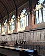 Stained-glass windows at the chapel of St. Saviour, Ardingly College.jpg