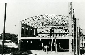 Harold Snell (Darwin businessman) - The Star Theatre under construction by Harold Snell.