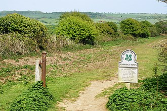 Bembridge Down - Image: Start of Bembridge Down