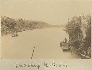 Goondi, Queensland - Goondi Wharf on the Johnstone River, circa 1885