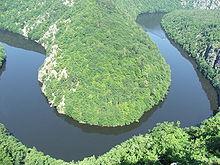 Штехобицкое водохранилище на реке Влтава