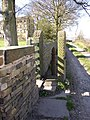 Stile into the driveway of Barker Royd, Southowram - geograph.org.uk - 399902.jpg