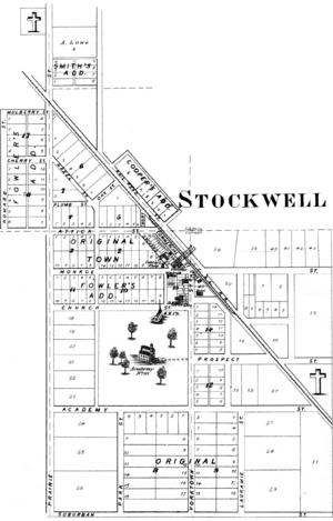 Stockwell, Indiana - Image: Stockwell, Indiana 1878