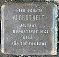 Stumbling block for Albert Veit (Poststrasse 17)