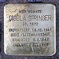 Stolperstein Bayreuther Str 42 (Schön) Gisela Springer.jpg