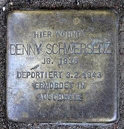 Photo of Denny Schwersenz brass plaque