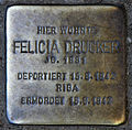 Stolperstein Donaustr 11 (Neukö) Felicia Drucker.jpg
