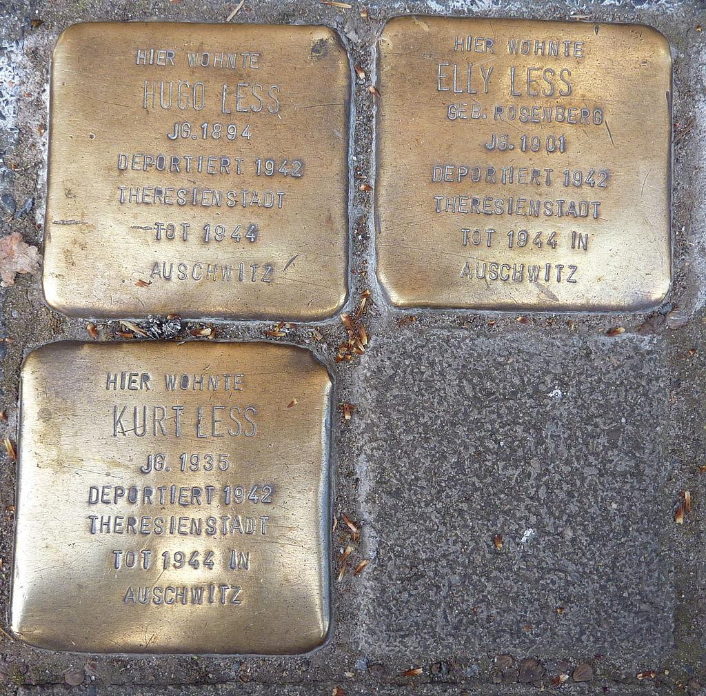 Stolperstein Familie Less Münster.JPG