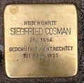 Stolperstein Kleve Kasinostraße 2 Siegfried Cosman.jpg