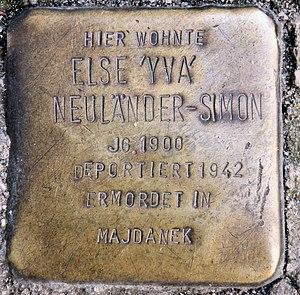 Yva - Image: Stolperstein Schlüterstr 45 (Charl) Else Neuländer Simon