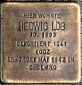 Stolperstein Solingen Wupperstraße 23 Hedwig Löb.jpg